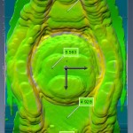 Portable laser-based CMM scan after welding. Average build up 4 to 6 mm.